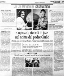 Alan Bedin, Ju Ju Memorial 2016 dedicato a Giulio Capiozzo