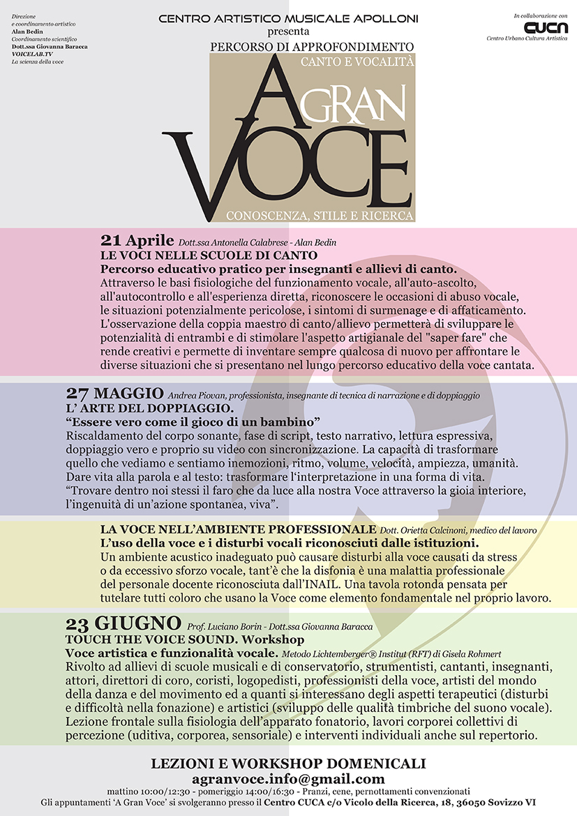 A Gran Voce_locandina 2018